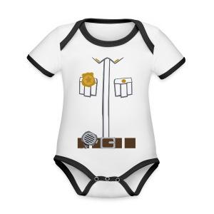 Police Tee Black edition - Organic Baby Contrasting Bodysuit