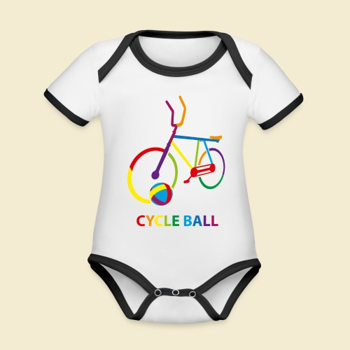 Radball | Cycle Ball Rainbow - Baby Bio-Kurzarm-Kontrastbody