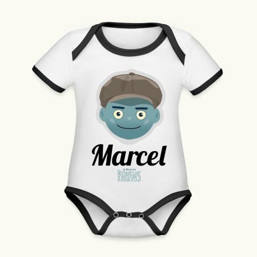 Marcel (Le monde des Pawns) - Body Bébé bio contrasté manches courtes