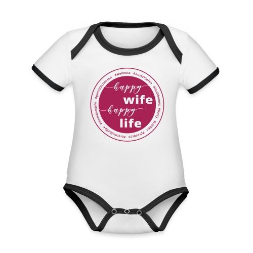 Wellnessmamis - Baby Bio-Kurzarm-Kontrastbody