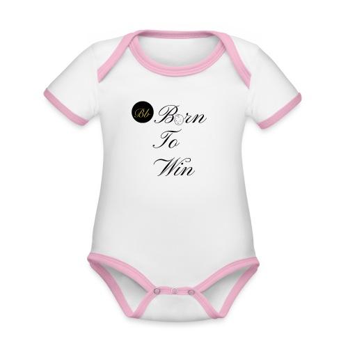Born To Win - Billionaire Design - Organic Baby Contrasting Bodysuit