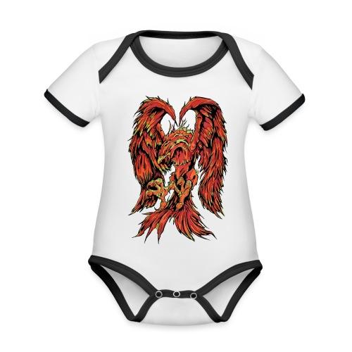 Fire Phoenix - Organic Baby Contrasting Bodysuit