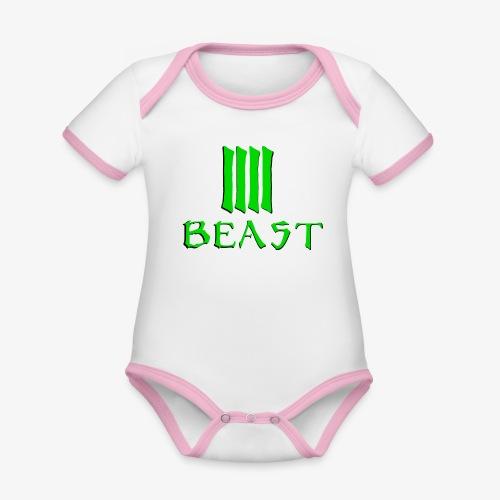 Beast Green - Organic Baby Contrasting Bodysuit