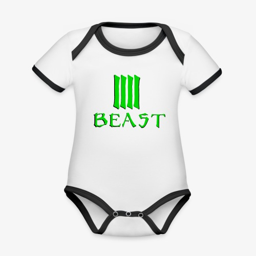 Beast Green - Organic Baby Contrasting Bodysuit