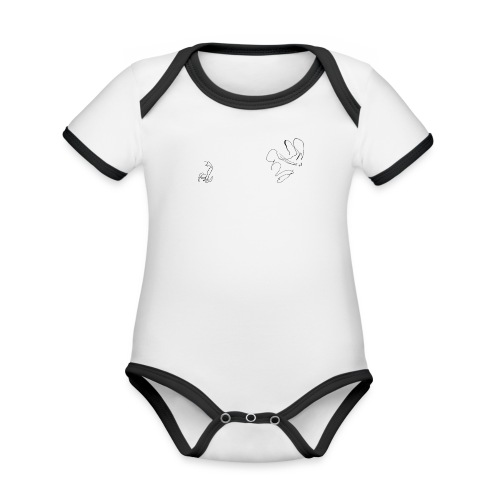 Lauf, Hase, Lauf - Baby Bio-Kurzarm-Kontrastbody