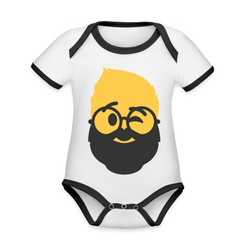 Dougsteins Wink Inverse by Dougsteins - Organic Baby Contrasting Bodysuit