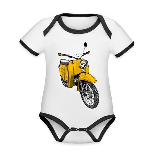 schwalbe gelb - Baby Bio-Kurzarm-Kontrastbody