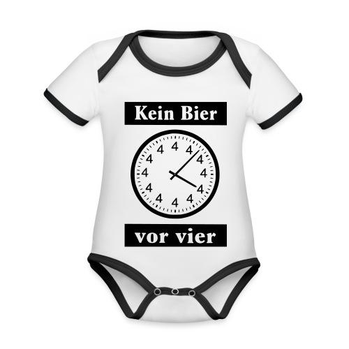 bier - Baby Bio-Kurzarm-Kontrastbody