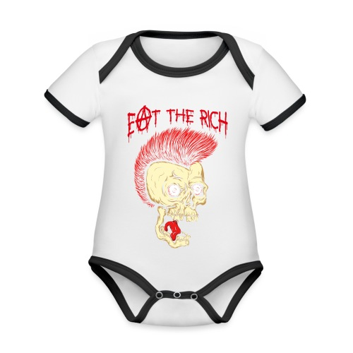 Eat The Rich (For Dark Shirts) - Baby Bio-Kurzarm-Kontrastbody
