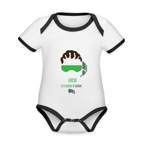 Lucio - Baby contrasterend bio-rompertje met korte mouwen