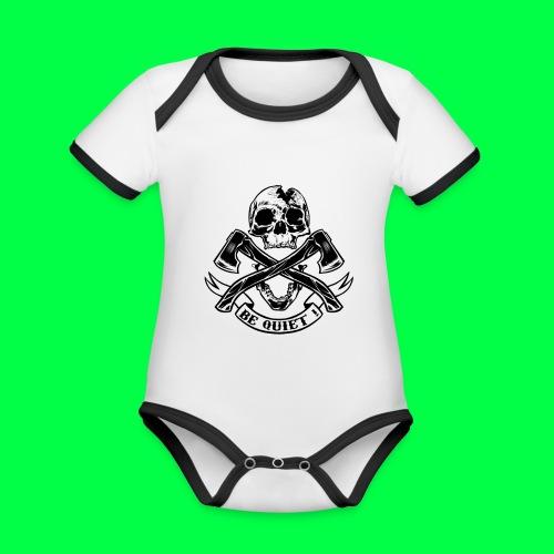 BE QUIET - Body Bébé bio contrasté manches courtes