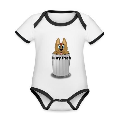 Furry Trash - Kortærmet økologisk babybody i kontrastfarver