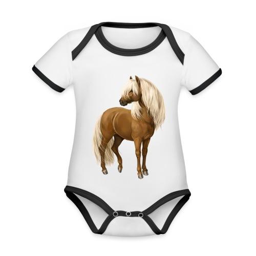 Pony Hengst - Baby Bio-Kurzarm-Kontrastbody