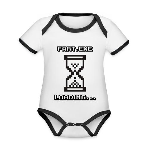 Fart Loading - Organic Baby Contrasting Bodysuit
