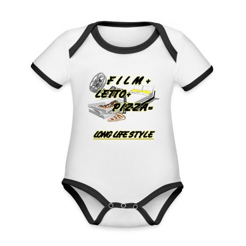 LONG LIFESTYLE - Body da neonato a manica corta, ecologico e in contrasto cromatico