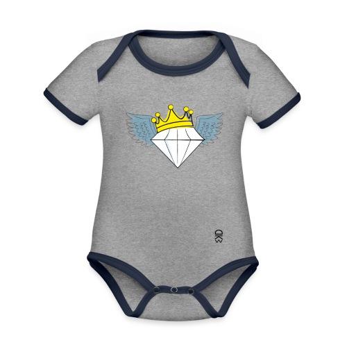 King Diamond Wings - Organic Baby Contrasting Bodysuit