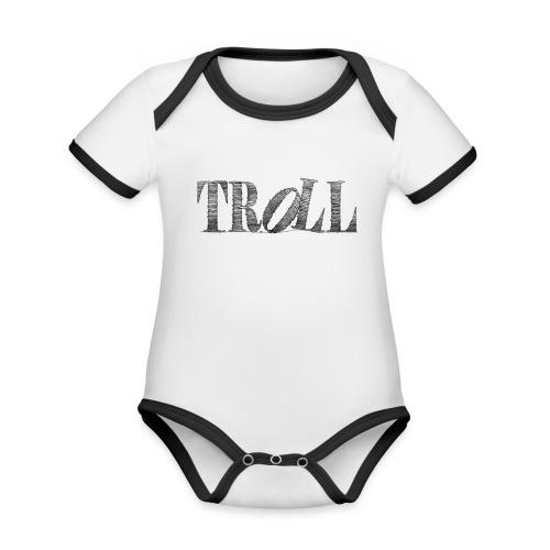 Troll - Organic Baby Contrasting Bodysuit