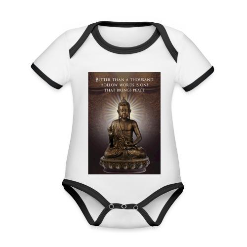Buddha Wisdom - Organic Baby Contrasting Bodysuit