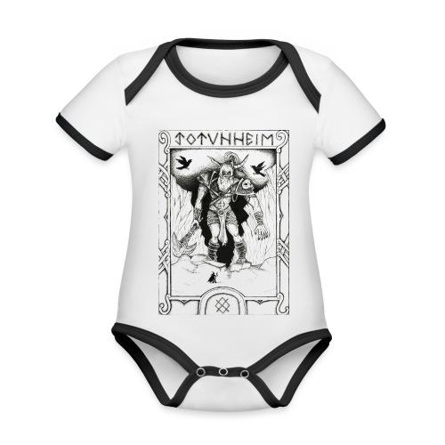 Jotunheimr - Body Bébé bio contrasté manches courtes