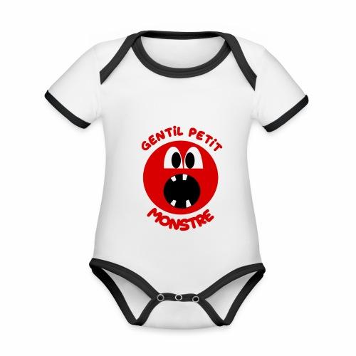 Gentil Petit Monstre - Body Bébé bio contrasté manches courtes