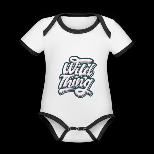 Wild Thing - Baby Bio-Kurzarm-Kontrastbody