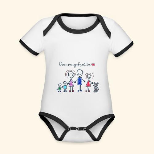 DenUmageFamilie - Kortærmet økologisk babybody i kontrastfarver