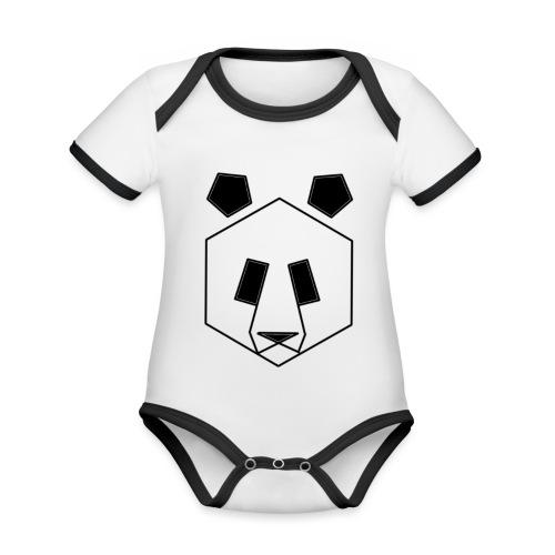 PANDA MOOD - Body da neonato a manica corta, ecologico e in contrasto cromatico