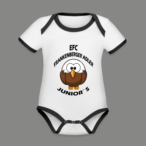 Junior Set in Schwarz - Baby Bio-Kurzarm-Kontrastbody