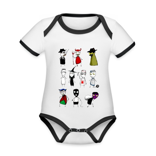 Bad to the bone - Organic Baby Contrasting Bodysuit