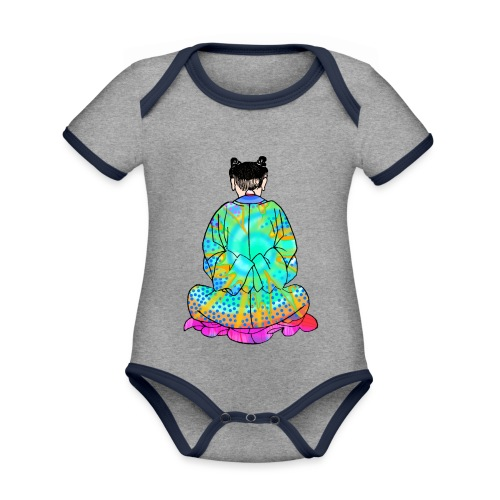 Qigong exercise for pain in the legs - Organic Baby Contrasting Bodysuit