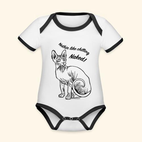 sushinaked - Body da neonato a manica corta, ecologico e in contrasto cromatico