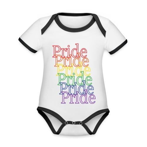 Pride | Regenbogen | LGBT - Baby Bio-Kurzarm-Kontrastbody