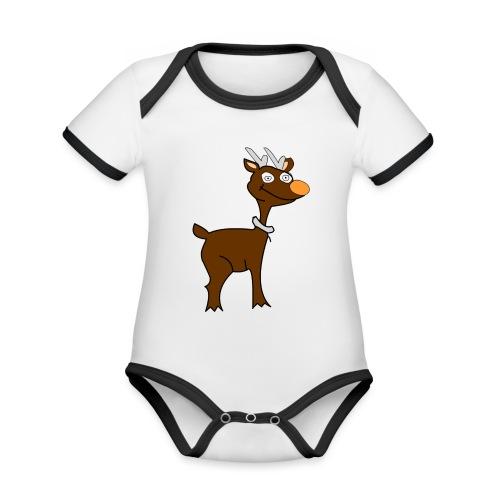 venado - Body contraste para bebé de tejido orgánico
