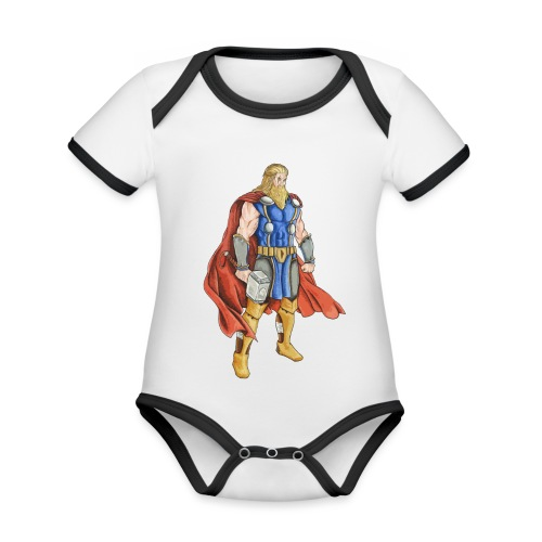 Thor Odinson - Body Bébé bio contrasté manches courtes