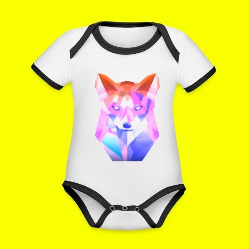 Nemirion Logo - Baby contrasterend bio-rompertje met korte mouwen