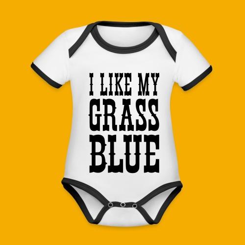 bluegrass - Baby contrasterend bio-rompertje met korte mouwen