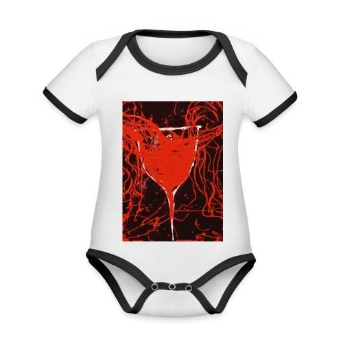 Loverdose - Body da neonato a manica corta, ecologico e in contrasto cromatico