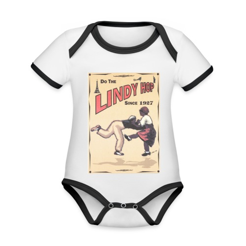 Do the Lindy Hop Since 1927 - Ekologisk kontrastfärgad kortärmad babybody