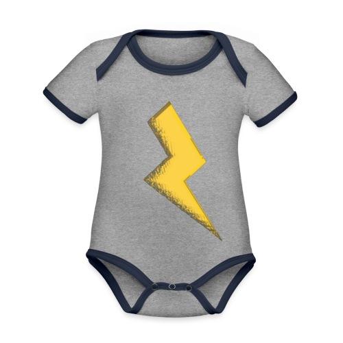 Fulmine - Body da neonato a manica corta, ecologico e in contrasto cromatico