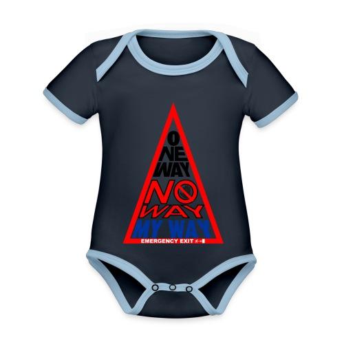 No way - Body da neonato a manica corta, ecologico e in contrasto cromatico