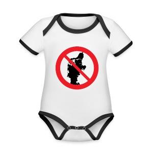 Jylland forbudt - Bestsellere - Kortærmet ækologisk babybody i kontrastfarver