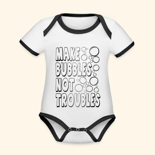 Bubbles002 - Baby contrasterend bio-rompertje met korte mouwen