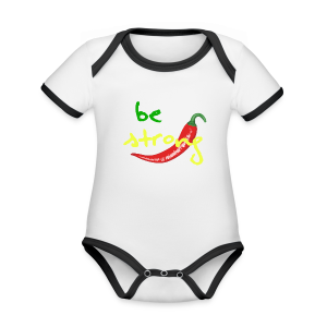 Chilli Collection - Økologisk kortermet kontrast-babybody