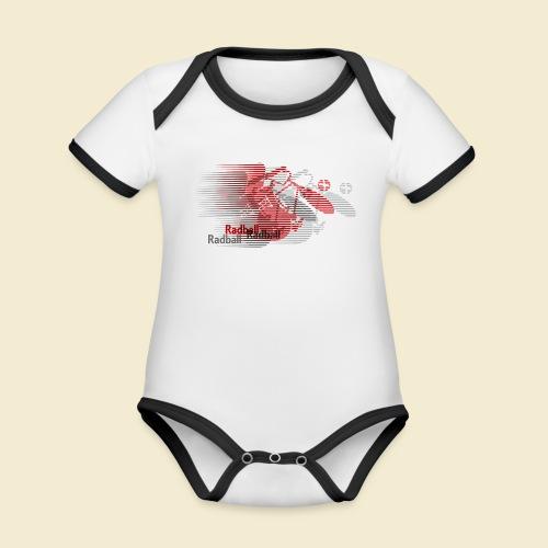 Radball   Earthquake Red - Baby Bio-Kurzarm-Kontrastbody