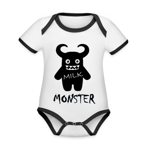 Milk Monster - Organic Baby Contrasting Bodysuit