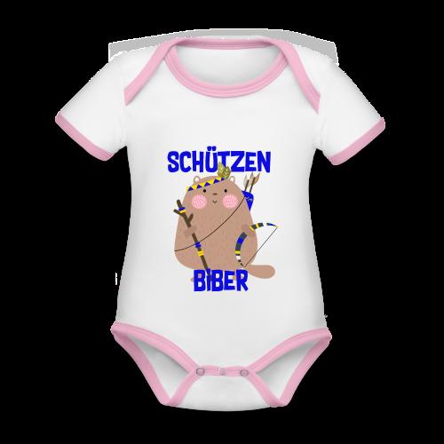 Schützenfest Biber Biberach Biberacher Schützen - Baby Bio-Kurzarm-Kontrastbody