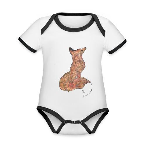 zorro - Body contraste para bebé de tejido orgánico