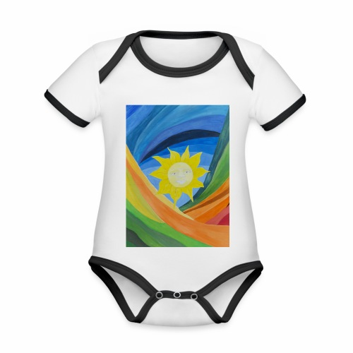 lachende-sonne - Baby Bio-Kurzarm-Kontrastbody