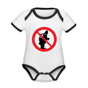 Jylland forbudt - Børnekollektion - Kortærmet ækologisk babybody i kontrastfarver