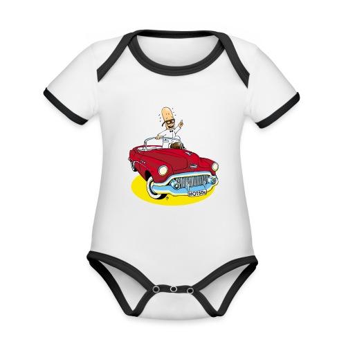 Herr Bohnemann im Buick - Baby Bio-Kurzarm-Kontrastbody